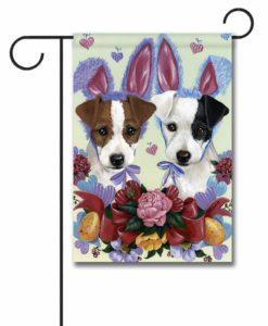 Jack Russell Terrier Bunnies - Garden Flag - 12.5'' x 18''