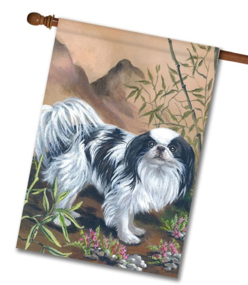 Japanese Chin Bamboo - House Flag - 28'' x 40''