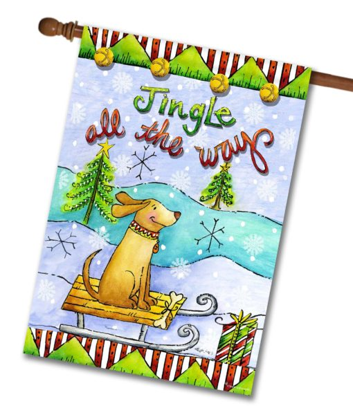 Jingle All The Way - House Flag - 28'' x 40''