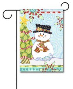 Jolly Christmas Snowman - Garden Flag - 12.5'' x 18''