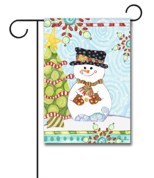 Jolly Christmas Snowman - Garden Flag - 12.5'' x 18''