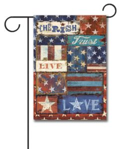 Live Love Trust Patriotic - Garden Flag - 12.5'' x 18''