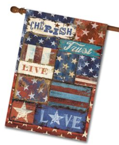 Live Love Trust Patriotic - House Flag - 28'' x 40''