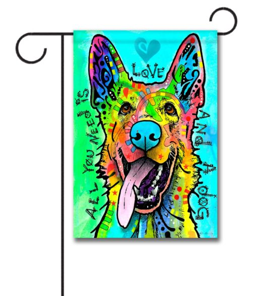 Love and a Dog - Garden Flag - 12.5'' x 18''