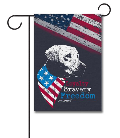 Loyalty Bravery Freedom - Garden Flag - 12.5'' x 18''