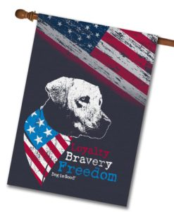 Loyalty Bravery Freedom - House Flag - 28'' x 40''
