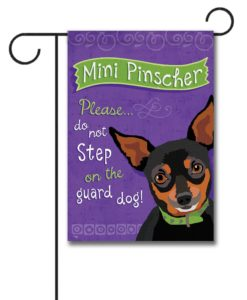 Mini Pinscher- Garden Flag - 12.5'' x 18''