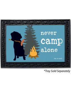Never Camp Alone Doormat