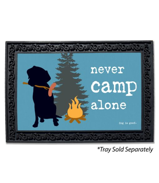 Never Camp Alone Doormat