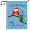 Owl Be Home For Christmas - Garden Flag - 12.5'' x 18''