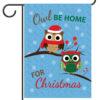 Owl Be Home For Christmas - Garden Flag - 12.5'' x 18''