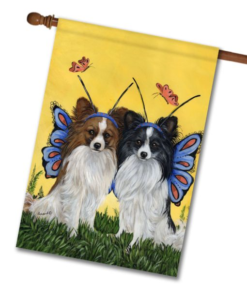 Papillon Butterflies - House Flag - 28'' x 40''