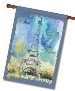 Paris With You- House Flag - 28'' x 40''