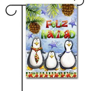 Penguin Feliz Navidad  Garden Flag   12.5u0027u0027 ...