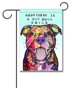Pit Bull Smile - Garden Flag - 12.5'' x 18''