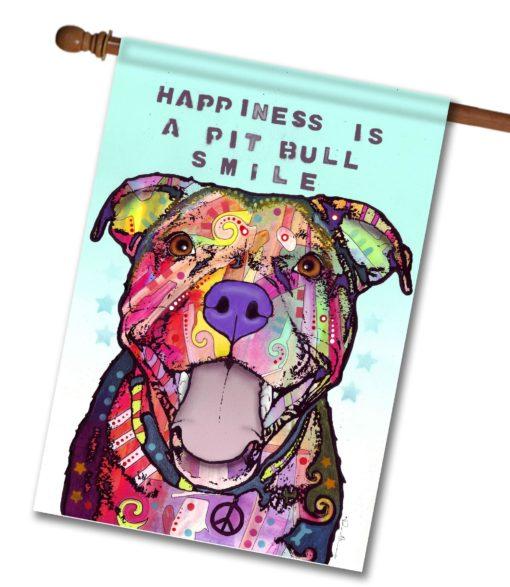 Pit Bull Smile - House Flag - 28'' x 40''