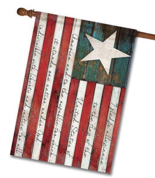 Pledge of Allegiance - House Flag - 28'' x 40''