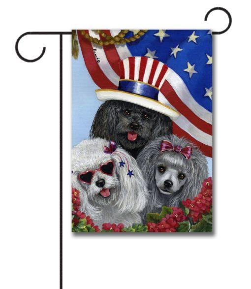 Poodle American Pride - Garden Flag - 12.5'' x 18''