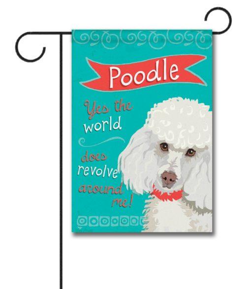 Poodle- Garden Flag - 12.5'' x 18''