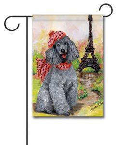 Poodle In Paris - Garden Flag - 12.5'' x 18''