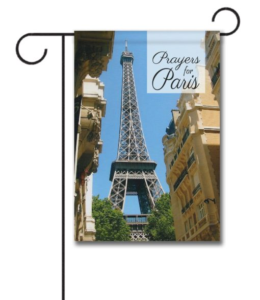 Prayers for Paris - Garden Flag - 12.5'' x 18''