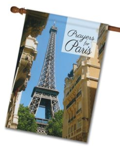 Prayers for Paris - House Flag - 28'' x 40''