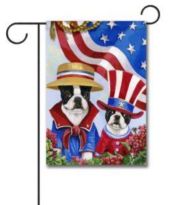 Boston Terrier American Pride - Garden Flag - 12.5'' x 18''