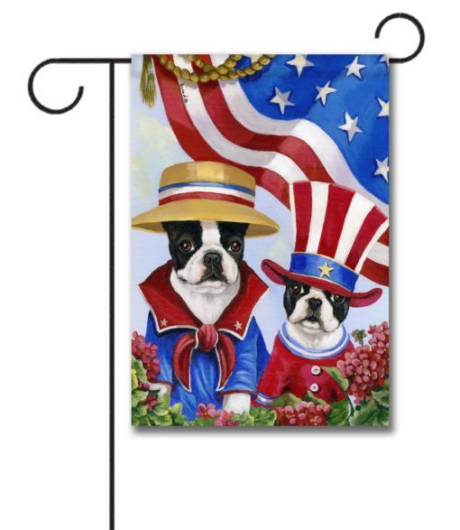 Boston Terrier American Pride - Garden Flag - 12.5'' x 18''