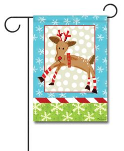 Reindeer Polka Dots- Garden Flag - 12.5'' x 18''