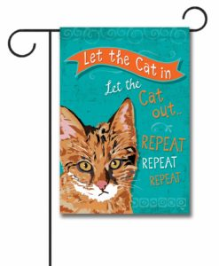 Repeat Repeat Repeat Ginger Cat- Garden Flag - 12.5'' x 18''