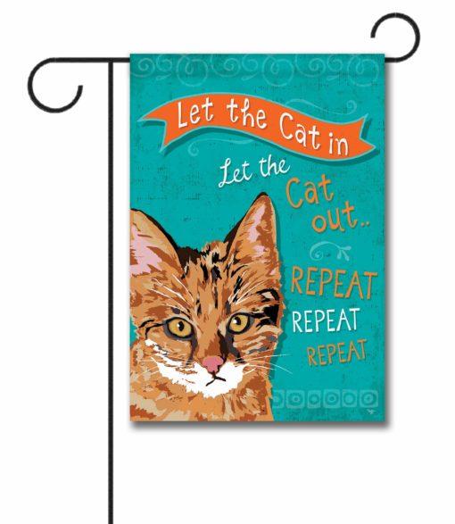 Repeat Repeat Repeat Ginger Cat- Garden Flag - 12.5'' x 18''