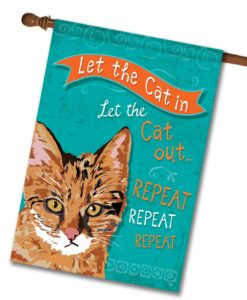 Repeat Repeat Repeat Ginger Cat- House Flag - 28'' x 40''