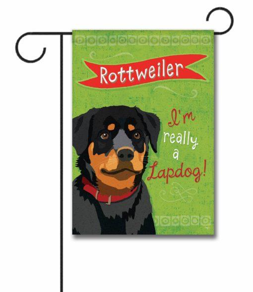 Rottweiler- Garden Flag - 12.5'' x 18''