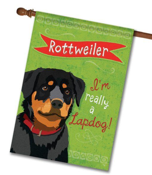 Rottweiler- House Flag - 28'' x 40''