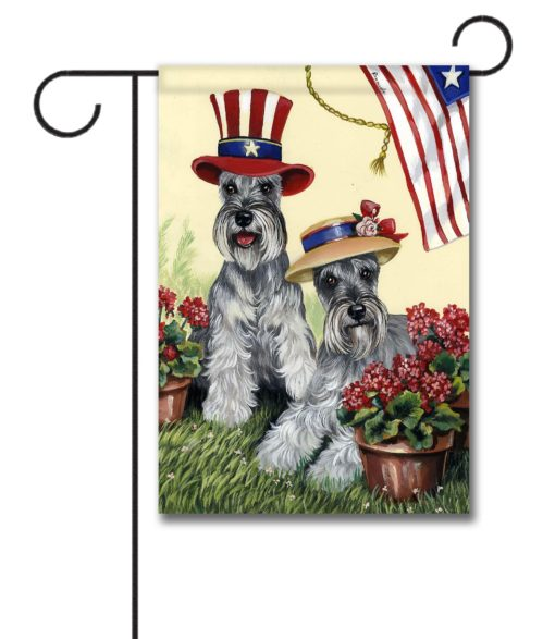 Schnauzer American Pride - Garden Flag - 12.5'' x 18''