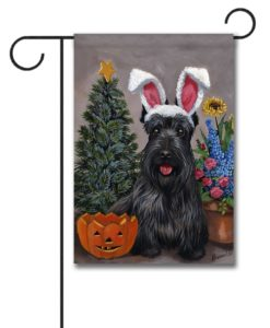 Scottish Terrier 4 Seasons - Garden Flag - 12.5'' x 18''