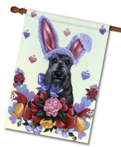 Scottish Terrier Bunny - House Flag - 28'' x 40''