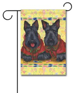 Scottish Terrier Scotties Rule - Garden Flag - 12.5'' x 18''