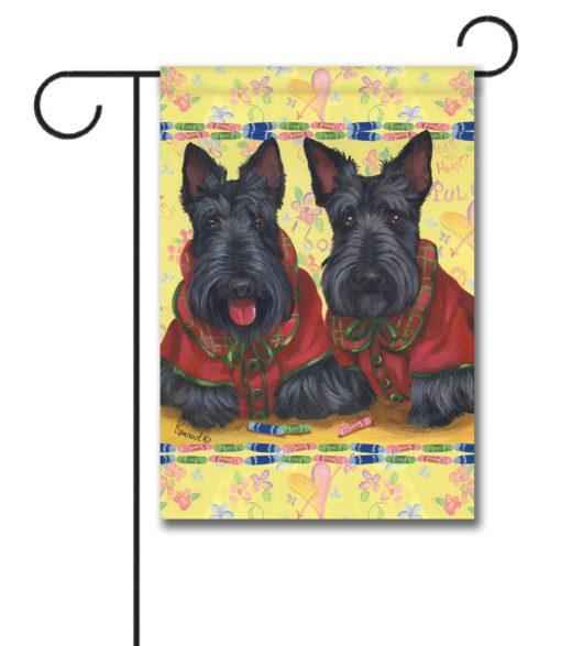 Scottish Terrier Scotties Rule - Garden Flag - 12.5'' x 18''
