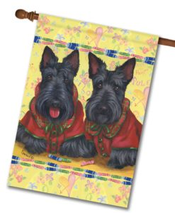 Scottish Terrier Scotties Rule - House Flag - 28'' x 40''