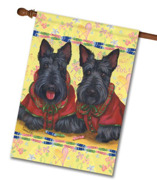 Scottish Terrier Scotties Rule - House Flag - 28'' x 40''