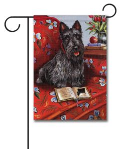 Scottish Terrier Lil Einstein - Garden Flag - 12.5'' x 18''