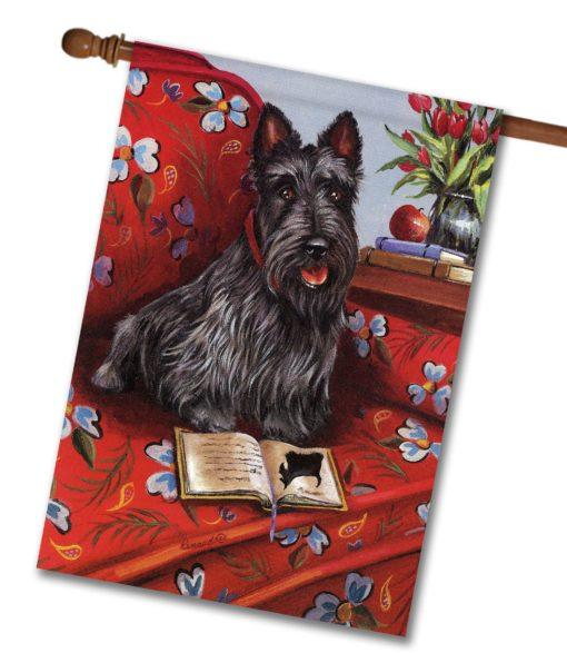Scottish Terrier Lil Einstein - House Flag - 28'' x 40''