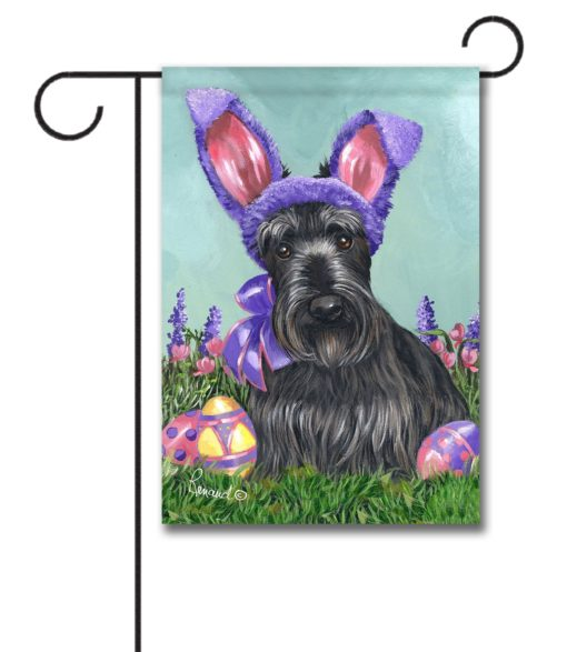 Scottish Terrier Egg Hunt - Garden Flag - 12.5'' x 18''