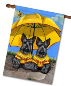 Scottish Terrier Sunshine - House Flag - 28'' x 40''