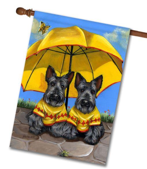 Scottish Terrier Sunshine - House Flag - 28'' x 40''