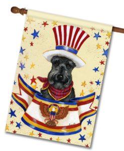 Scottish Terrier USA- House Flag - 28'' x 40''