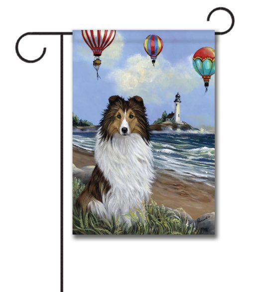 Shetland Sheepdog Air Fair- Garden Flag - 12.5'' x 18''