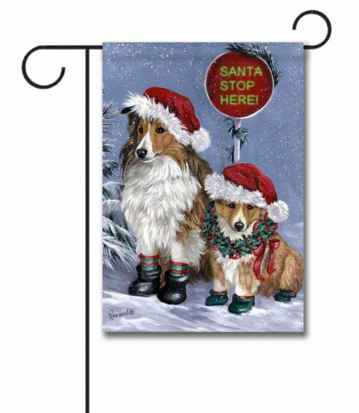 Shetland Sheepdog Christmas- Garden Flag - 12.5'' x 18''