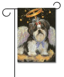 Shih Tzu Angel- Garden Flag - 12.5'' x 18''